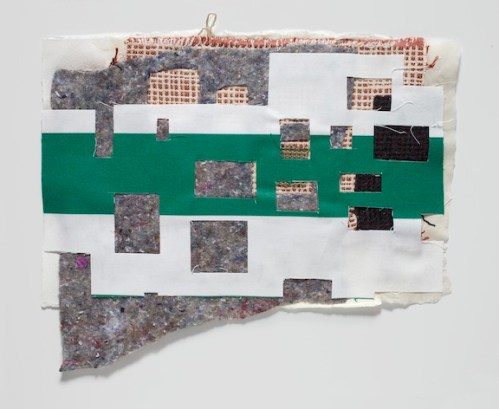 Elana Herzog - Untitled, 2010?, Paper pulp, textile, ?14.5 x 17 inches. (Additional work available to view at Pierogi)