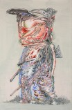 "James Esber - ""Untitled (Boy with Five Legs),"" 2013, Acrylic on paper, 27.5 x 18 inches"