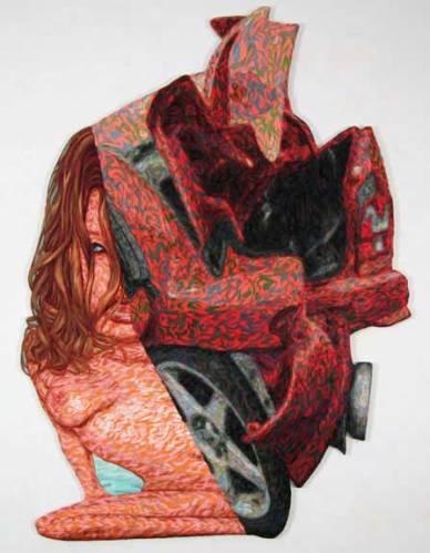 "James Esber - ""Crush,"" 2008, Plasticine, Approximately 58 x 43 inches"