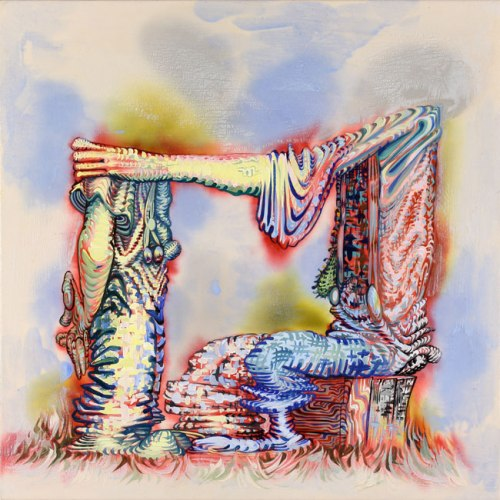 "James Esber - ""Dewey Defeats Truman,"" 2009, Acrylic on canvas, 30  x 30 inches"