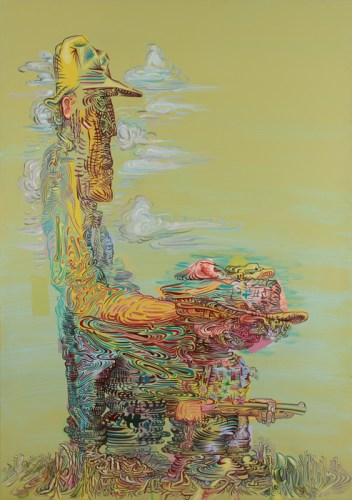Hunting Trip - 2014, Acrylic on PVC panel, 68 x 48 inches