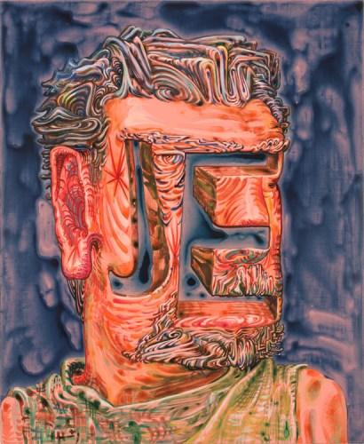 "James Esber - ""J.E.,"" 2015, Acrylic on PVC panel, 25.25 x 20.75 inches"