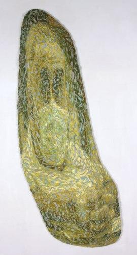 John Yettaw - 2010, Plasticine on PVC board, 60 x 7 x 25.5