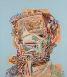 "James Esber - ""Lincoln Noface,"" 2014, Acrylic on PVC board, 37 x 31.75 inches"