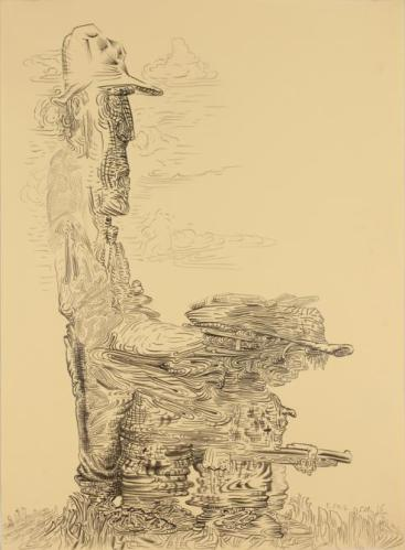 "James Esber - ""Untitled (Father Son),"" 2012, graphite on paper, 21.25 x 15.75 inches"