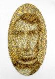 "James Esber - ""Yellow Gray Lincoln,"" 2004, Plasticine, 62 x 34 inches"