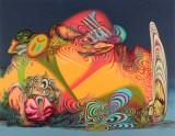 "James Esber - ""Sleeper,"" 2021, Acrylic on PVC panel, 48 x 62.5 inches"