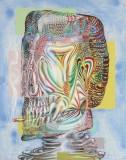 "James Esber - ""Smoker,"" 2019,  Acrylic on PVC panel, 40.5 x 32 inches"