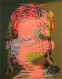 "James Esber - ""Thinker 2,"" 2020, Acrylic on PVC panel, 40.5 x 32 inches"