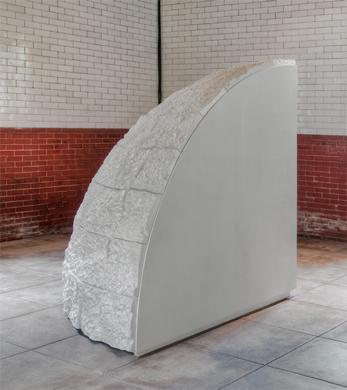 Ana Esteve Llorens - Imaginary Geography, 2011, plywood, polystyrene foam, enamel paint, 70 x 70 x 70 inches