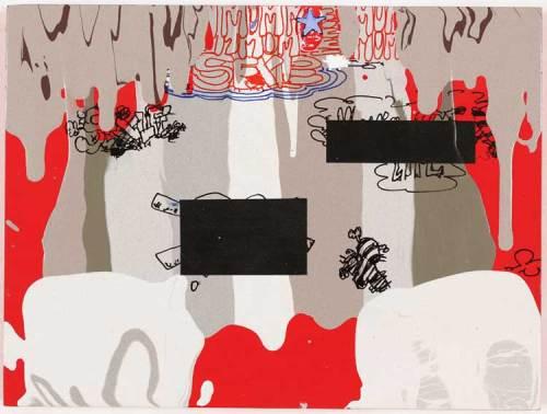 """JaneFine - """"Big Little Lies,"""" Acrylic on wood panel"""