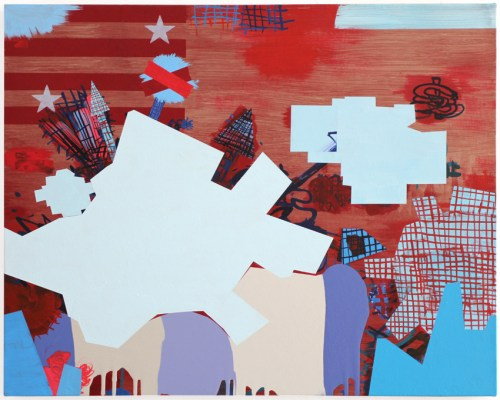 """Jane Fine - """"Cover Up,"""" 2020, Acrylic on Canvas, 24 x 30 inches"""