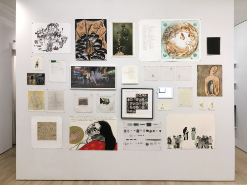 """no title - """"First, Second and Third Person,"""" Installation View"""