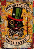 "Tony Fitzpatrick - ""Top Hatters,"" 2013, Mixed media on paper, 7.5 x 10 inches"