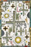Winter Crosses - 2009, Mixed Media on Paper, 9 x 6 inches