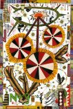 "Tony Fitzpatrick - ""The Assassination of Crazy Horse,"" 2009, Mixed Media on Paper, 9 x 6 inches. Sold"