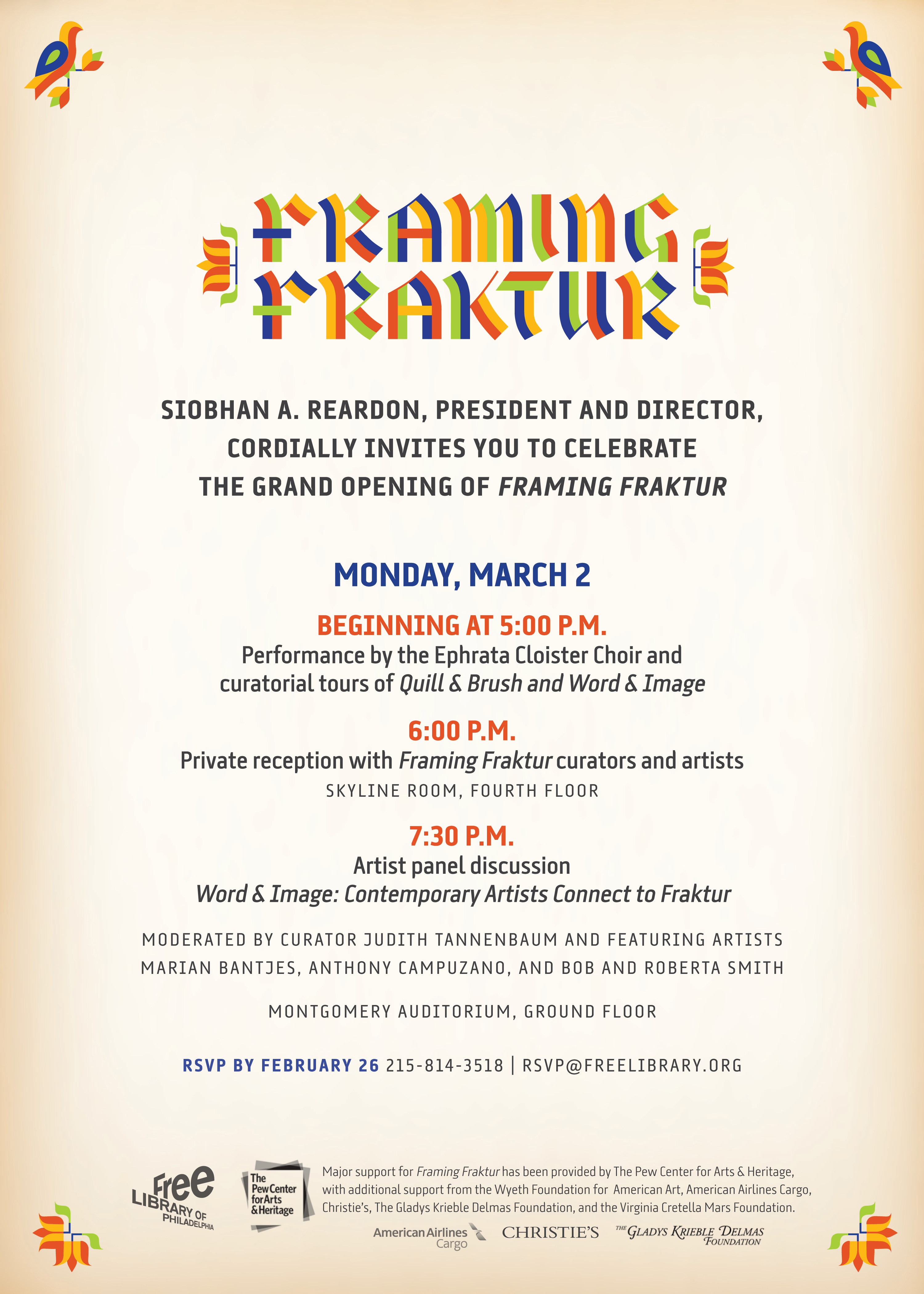 Bob & Roberta Smith included in Framing Fraktur at the Free Library ...