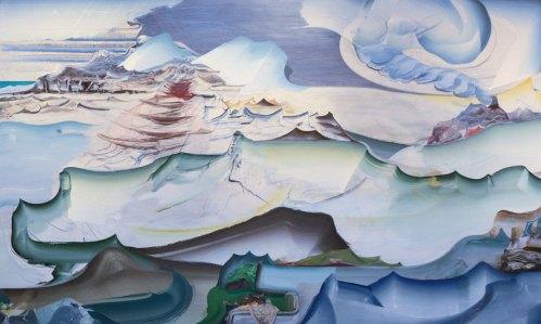 "Elliott Green - ""Bone Dust Beach,"" 2013, Oil on linen, 36 x 60 inches. Sold."