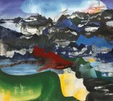 "Elliott Green - ""Double Morning,"" 2017, Oil on linen, 36 x 40 inches"