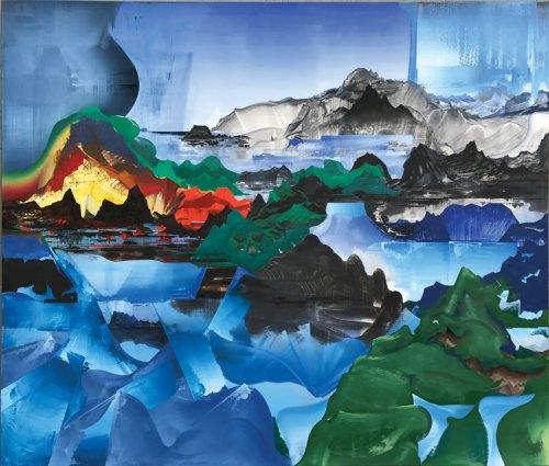 "Elliott Green - ""Human Nature,"" 2017, Oil on linen, 82.5 x 97.5 inches"