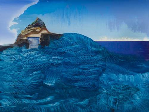 """Elliott Green - """"Koma,"""" 2019, Oil on linen, 30 x 40 inches"""