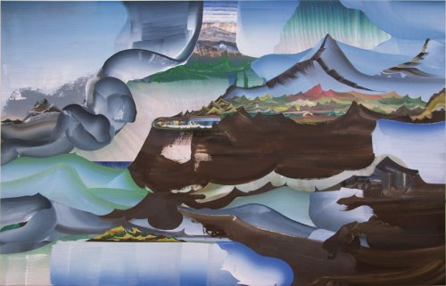 "Elliott Green - ""Polyvalence,"" 2013, Oil on linen, 36 x 60 inches"