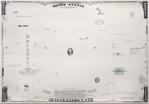 "Jonathan Herder - ""Big Bill,"" 2008, Ink and gouache on paper, 21 x 49.5 inches"