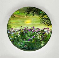 "Patrick Jacobs - ""Marsh with Anemones,"" 4.5 inch window"
