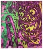 "Patrick JacobsNightSpiritsHappy6x5 - ""Happy (Night Spirits I),"" 2018, Unique Viscosity Print, 6 x 5 inches"