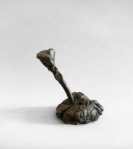 """Patrick Jacobs - """"Small Rose Flower (The Nocturnes),"""" 2018, Bronze, 13.5 (H) x 5 (W) x 6.5 (D) inches"""