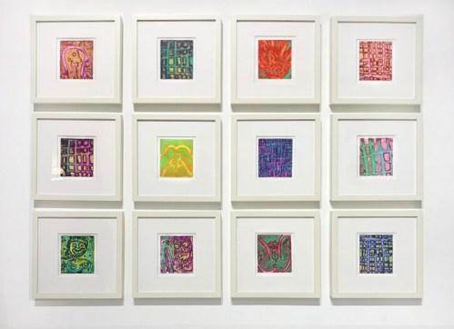 "Patrick Jacobs - ""Night Spirits,"" Unique Viscosity Prints, 6 x 5 inches each"
