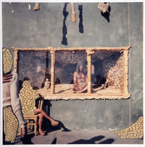 Untitled - 1974-2003, Ink and Acrylic on Color Photograph, 14 x 11 inches