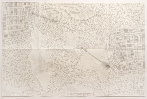 Untitled (WarDrawing) - 2005-2006-2012, Graphite on paper, 25 x 38 inches