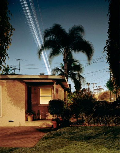 Nachtflüge Series: Oak Street, Landings LAX Runway 25R, 2006 - C-Print, Edition of 7 + 1AP, available in 30 x 38.5 inches or 48 x 61.5 inches