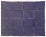 Untitled - 2013, Silk, fabric, earth, thread, 11.5 x 14.25 inches