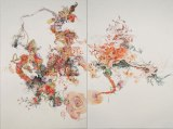 Flowing Furrow - 2010, Watercolor on paper, 17 7/8 x 22 inches each panel (Diptych)