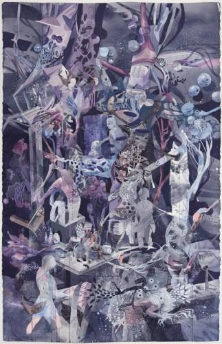 "Darina Karpov - ""Haunt,"" 2013, Watercolor and acrylic on paper, 40 x 25.75 inches. Sold"