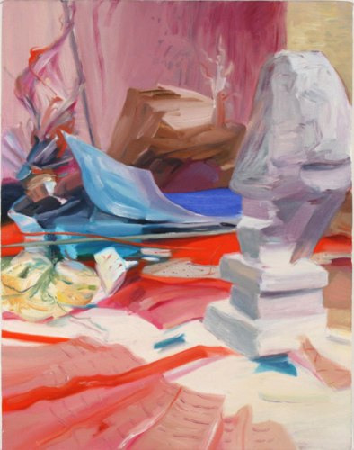 """Darina Karpov - """"Study for Monument,"""" 2012, Oil on canvas, approx. 24 x 18 inches"""