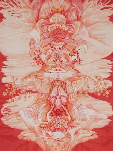 Darina Karpov - Untitled, 2016, Watercolor and tempera on paper, 12 x 9 inches. Sold.