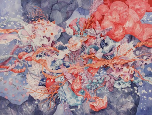 Darina Karpov - Untitled, 2016, Watercolor and tempera on paper, 42 x 55 inches