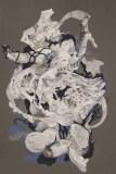 """Darina Karpov - """"Untitled,"""" 2016, Watercolor and tempera on paper, 18 x 12 inches"""