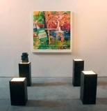 Take a Puff - 2012, oil on canvas, pedestals, fountain
