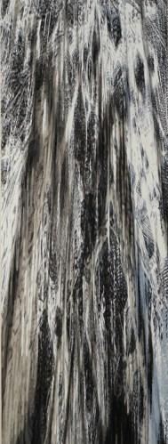 "Yoon Lee - ""Fall 1,"" 2016, Acrylic on PVC panel, 96 x 36 inches"