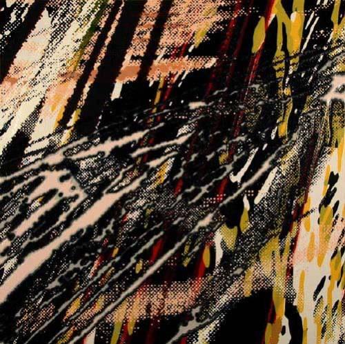 "Yoon Lee - ""Swipe,"" 2008, Acrylic on Sintra (PVC) Panel, 40 x 40 inches"