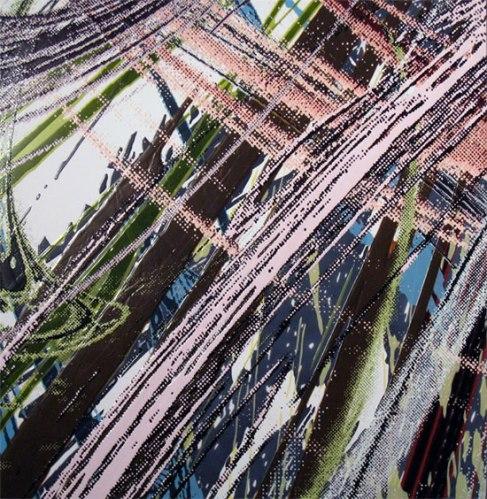 "Yoon Lee - ""Swipe II,"" 2009, Acrylic on Sintra (PVC) Panel, 40 x 40 inches"