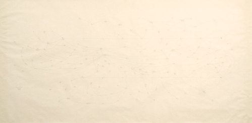 "Mark Lombardi - ""Nugan Hand Bank Sydney Australia c. 1973-80 (5th Version),"" 1995, Graphite on paper, 45 x 89 inches"