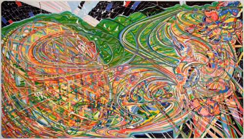 Savvy - 2010, Airbrush, ink on paper, 53 x 94.5 inches