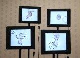 Finger Eye Fart Angel - Ansel Combs & Matt Marello, 2012, flash video on digital frames, infinite loop, ed. of 3.
