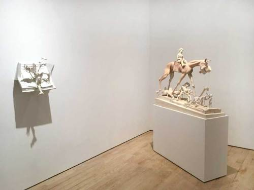 """William McKearn - Installation view, October 2018. Left: """"Pelto's Roof;""""  Right: """"Two Fingers"""""""