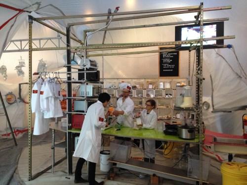 Menu for Mars Kitchen - Installation view